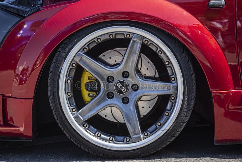 Fortuna sporta poziom na Audi Steinmetz obręczach obrazy royalty free