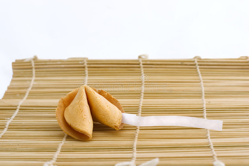 Fortune Cookie With Text Area Royalty Free Stock Images