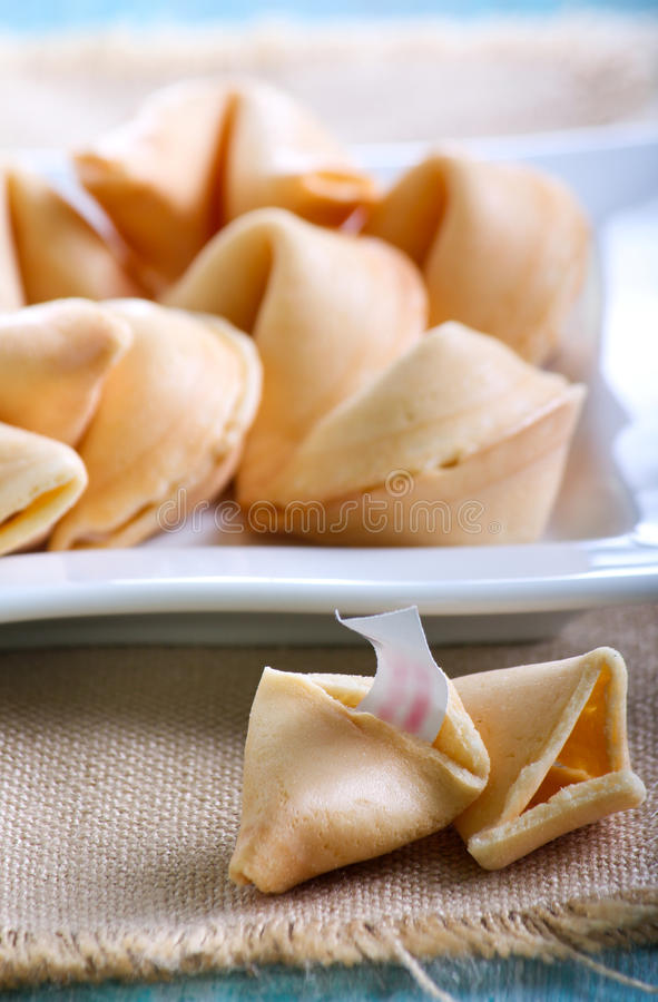 The fortune cookies stock image