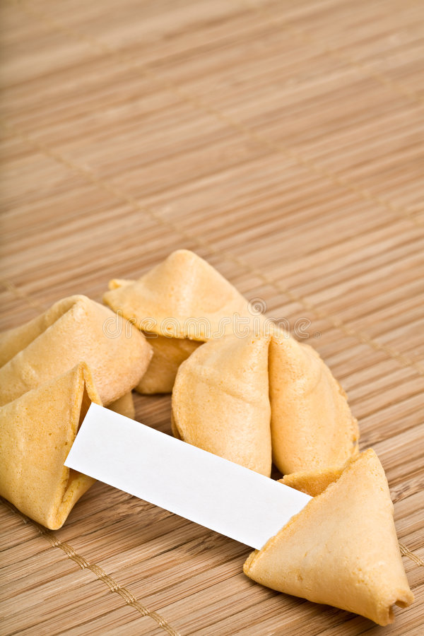 Fortune cookies your text stock image