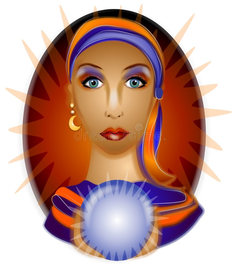 Download Fortune Teller Crystal Ball Royalty Free Stock Photos - Image: 2794748