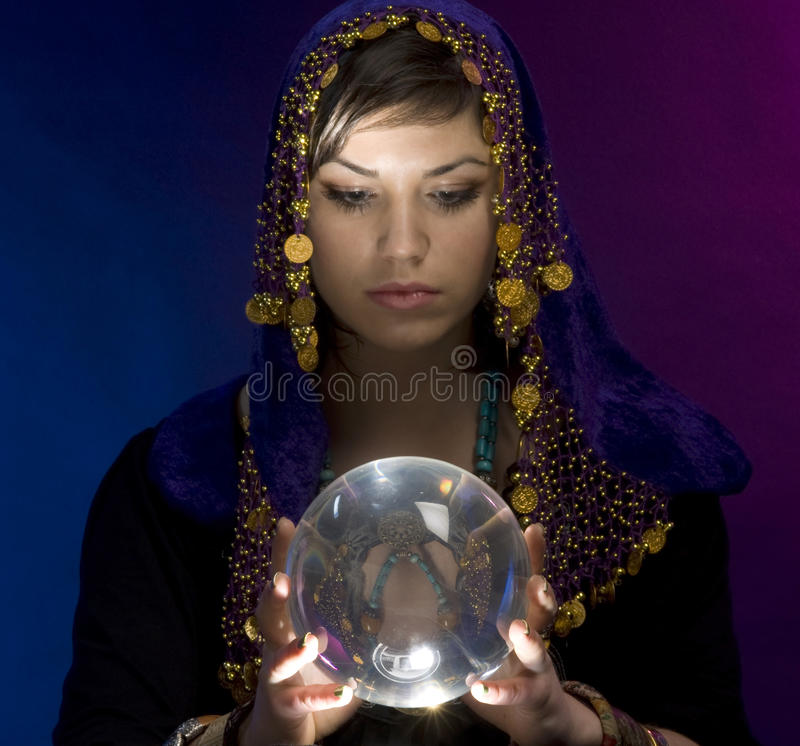 Download Fortune-teller With Crystal Ball Stock Image - Image: 9475161