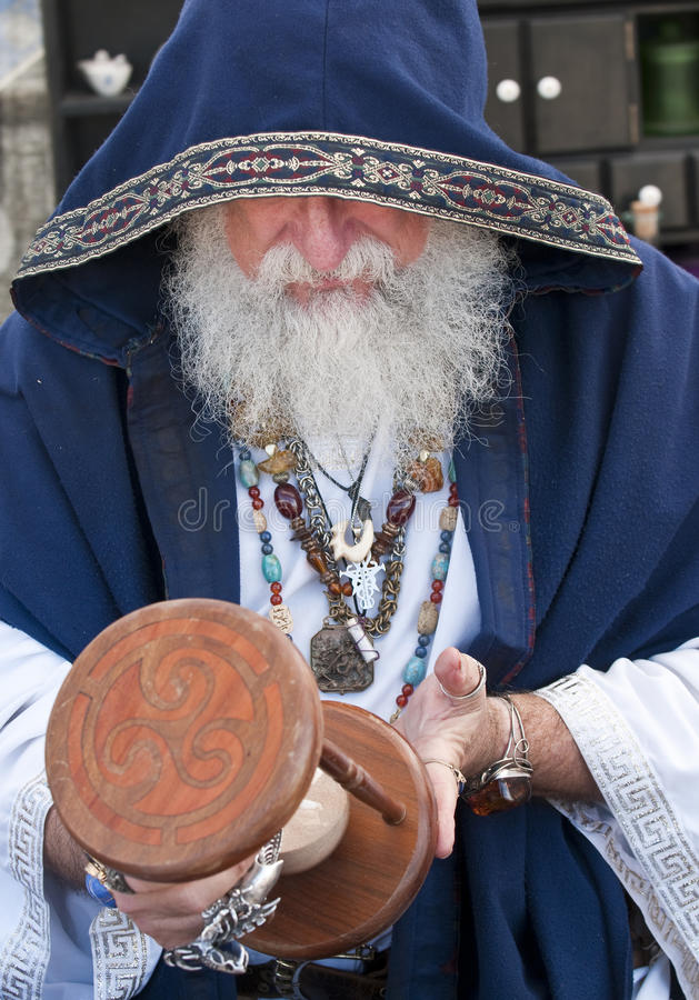 Download Fortune Teller Looking Hour Glass Stock Photo - Image: 13016512
