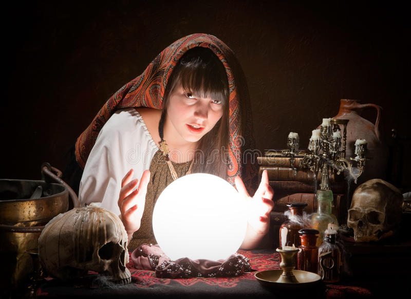 Fortune-teller predicting the future royalty free stock photos