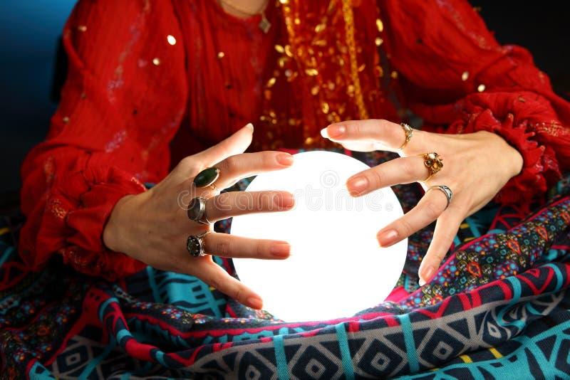 Fortune-teller's hands stock image
