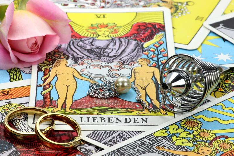 Fortune telling accessories stock photo