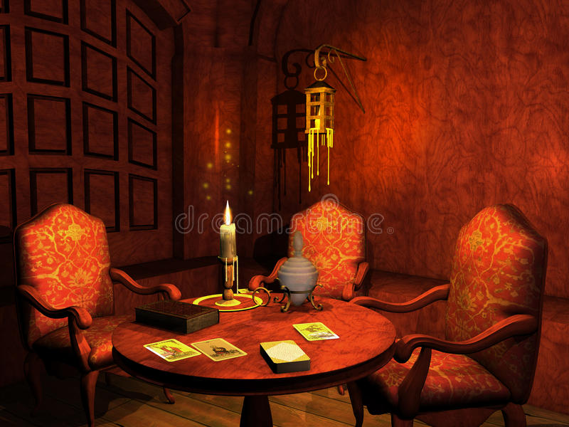 Fortune telling salon stock illustration
