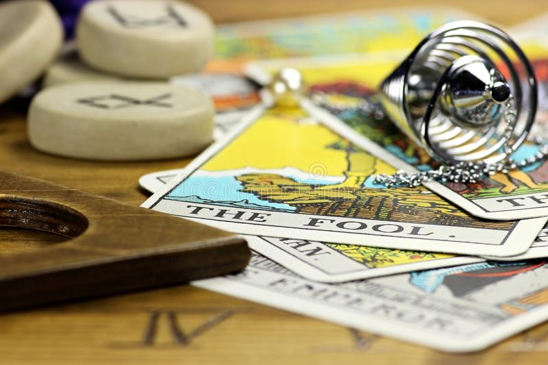 Fortune telling. Some of the most famous fortune telling accessories royalty free stock photos