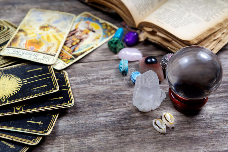Fortune-telling royalty free stock photo