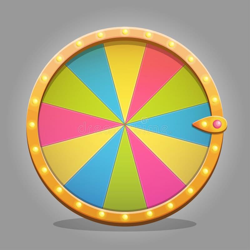 Fortune wheel design element stock illustration