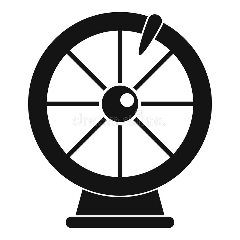 Fortune wheel icon, simple style. Fortune wheel icon. Simple illustration of fortune wheel vector icon for web design isolated on white background stock illustration