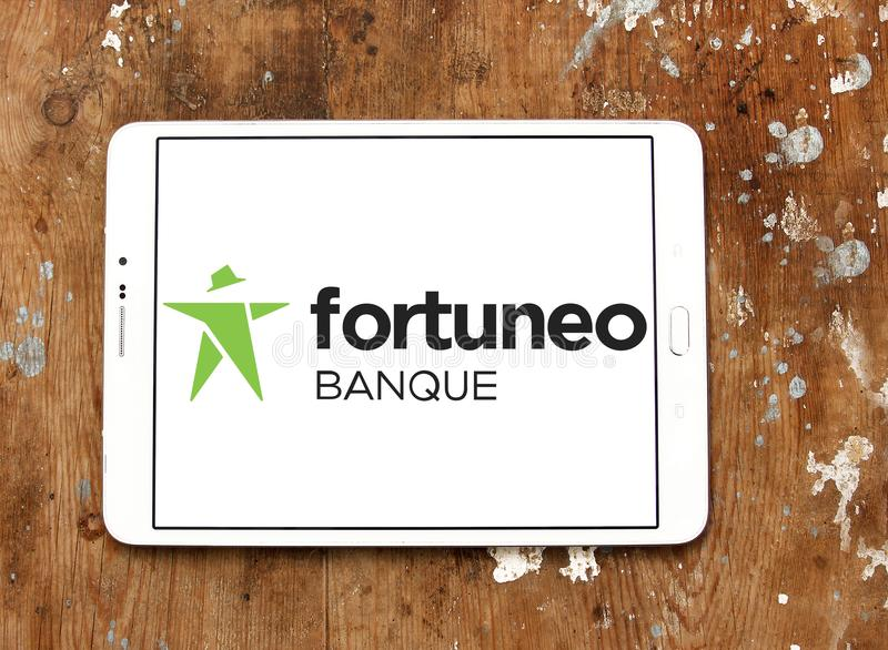 Fortuneo online bank logo royalty free stock images