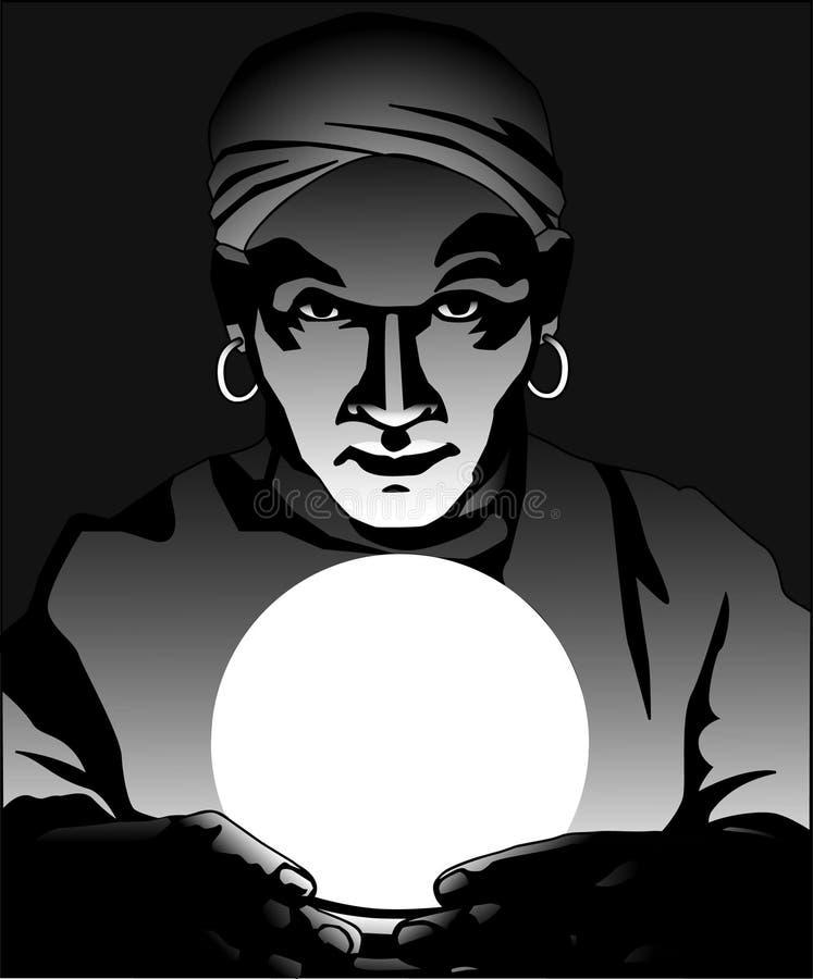 fortuneteller διανυσματική απεικόνιση