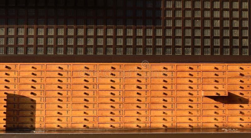 fortunetelling老木的机柜 免版税库存图片