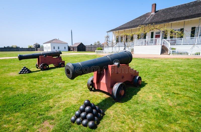 FortVancouver nationell historisk plats royaltyfri fotografi