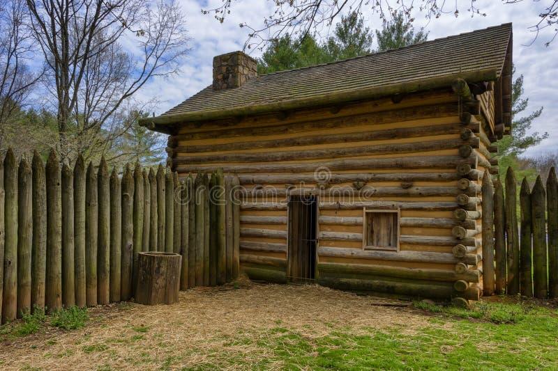 FortWatauga historisk plats i Tennessee royaltyfria bilder