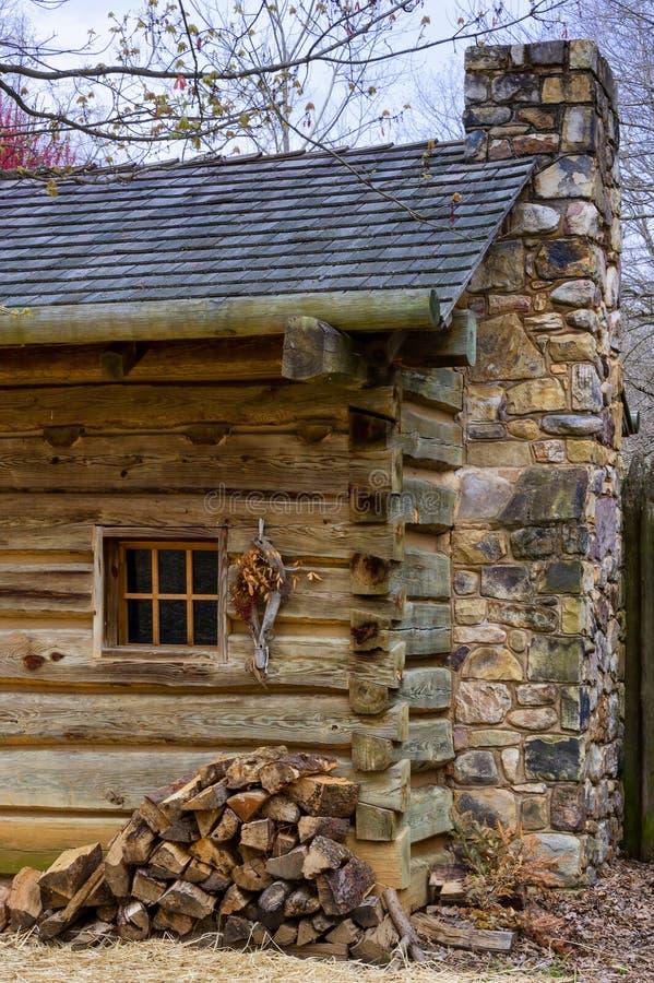 FortWatauga historisk plats i Tennessee royaltyfria foton