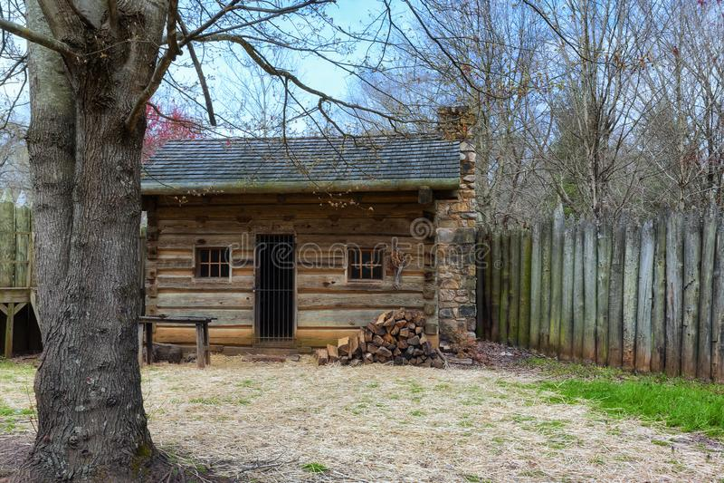 FortWatauga historisk plats i Tennessee arkivfoton