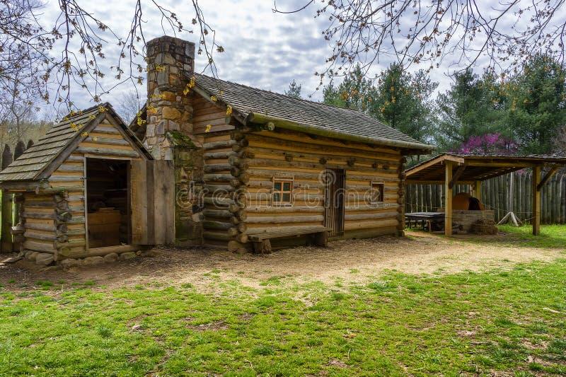 FortWatauga historisk plats i Tennessee royaltyfri foto