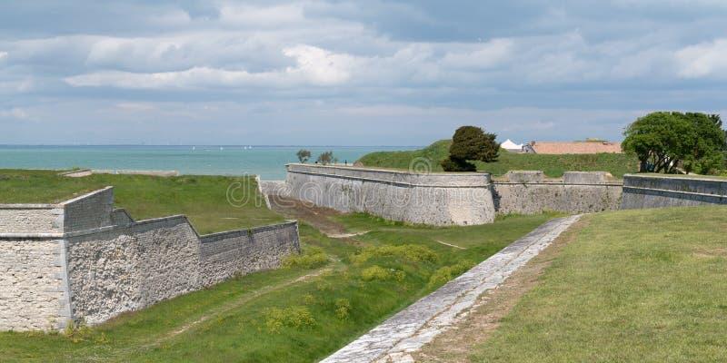 Fortyfikacja Saint-Martin de-Re na południowym zachodzie Francji obrazy stock