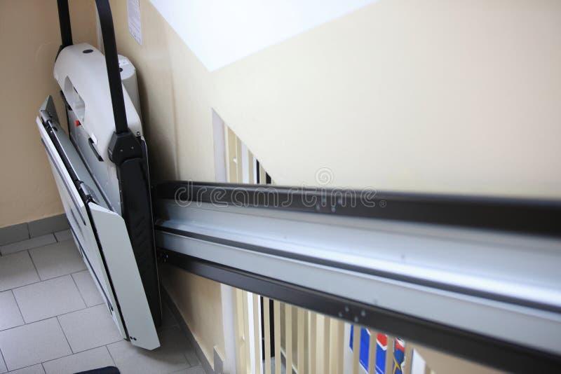Foru windy schodki w budynku fotografia stock