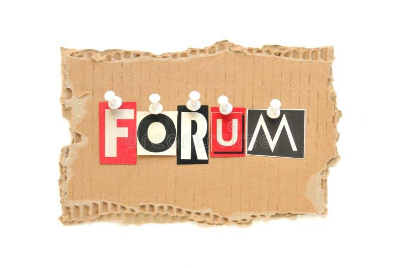 Forum fotografia stock libera da diritti