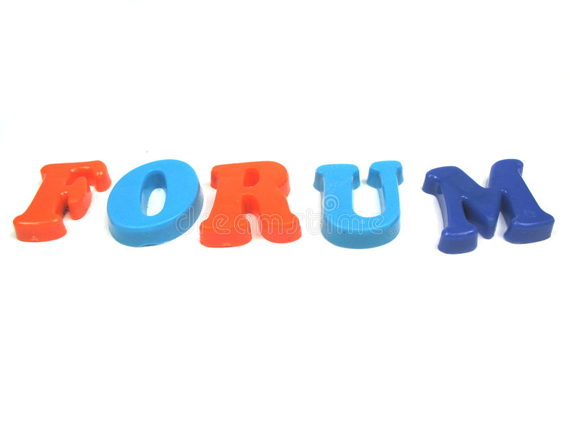 Forum. The word forum in colourfull letters royalty free stock photography