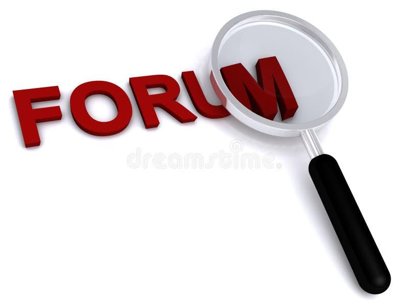 Forum illustration stock