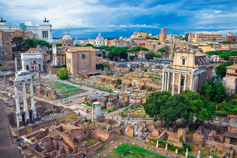 forum antique Rome photos stock