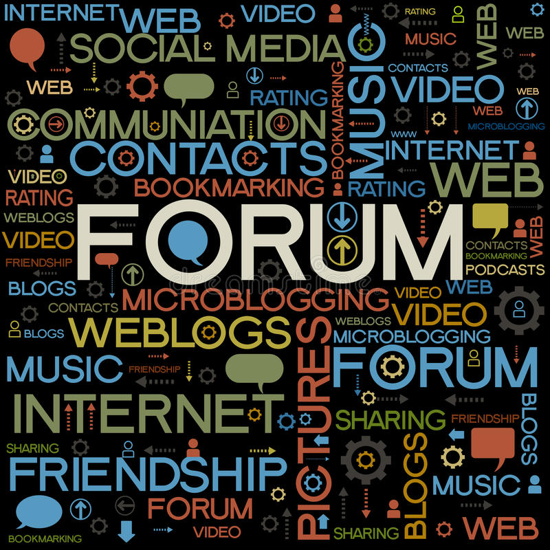 Forum backgrounds with the words stock illustration
