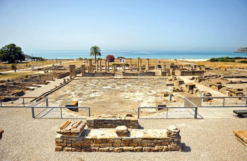 Forum of Baelo Claudia in Tarifa, Cadiz province, Spain stock photography