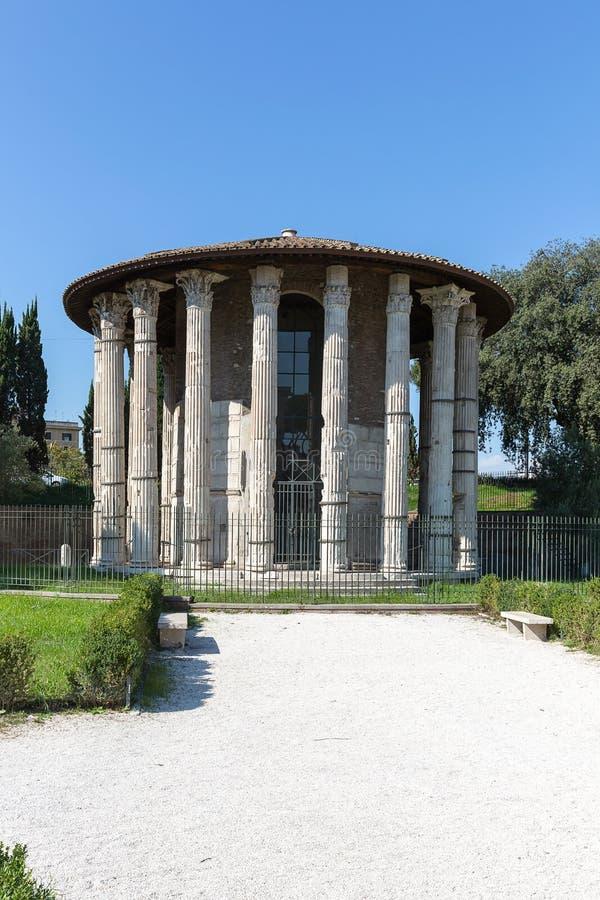 Forum Boarium, Tempel van Hercules Victor, Rome, Italië, Europa stock fotografie