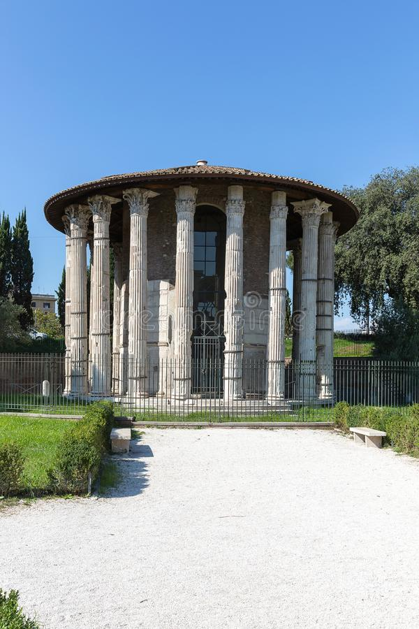 Forum Boarium, Temple of Hercules Victor, Rome, Italy, Europe stock photography