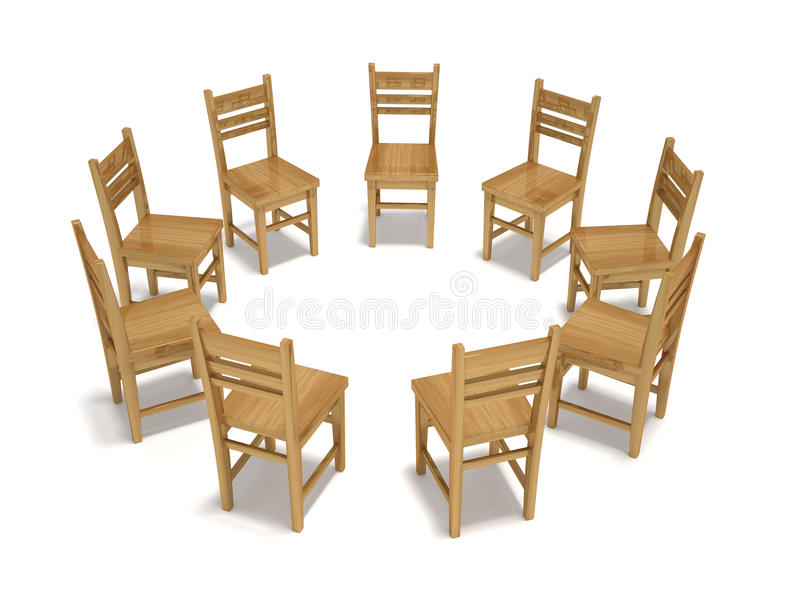 Forum Chairs. This is a 3d render illustration stock illustration