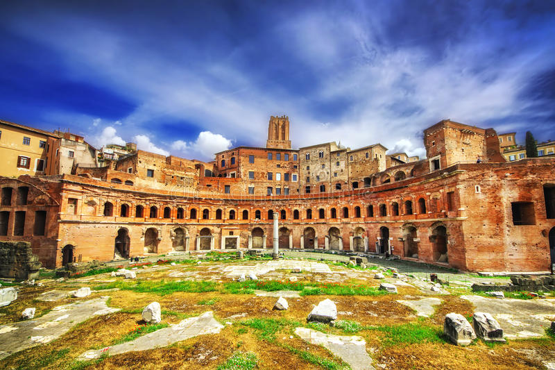 Forum d'Augustus Foro di Augusto à Rome images libres de droits