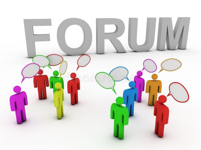 Forum dat mensen bespreekt vector illustratie