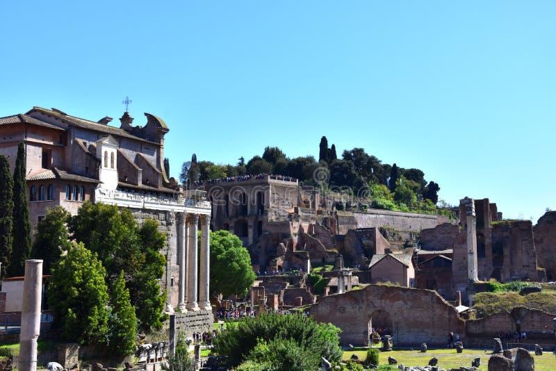 Forum de Cesar à Rome, Italie photographie stock libre de droits