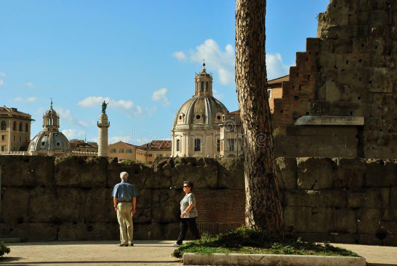 Forum de Trajan à Rome, Italie image libre de droits