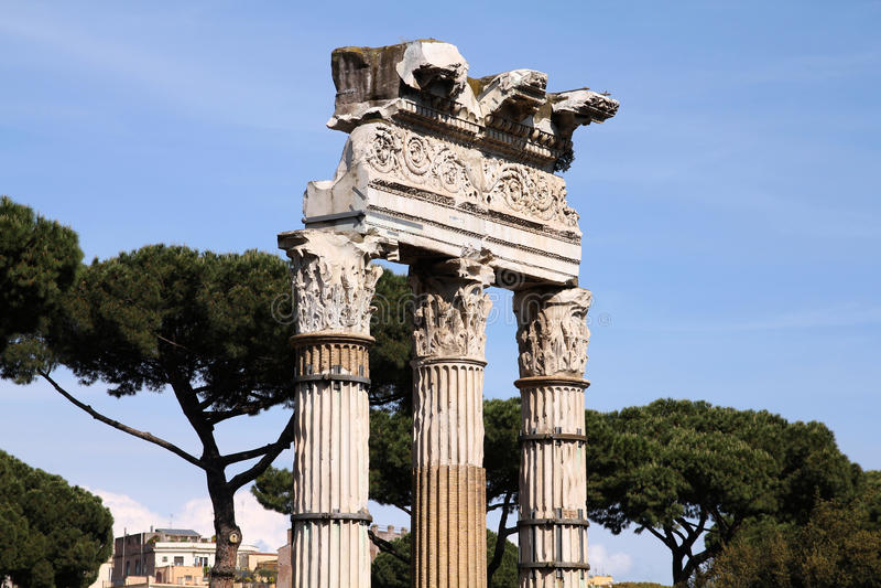 Forum de Trajan, Rome photos stock