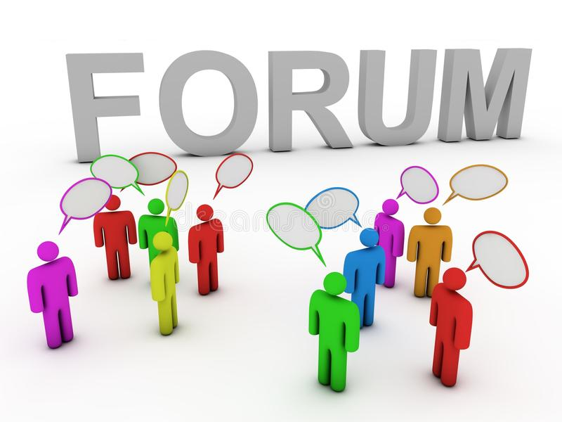 Forum discussing people vector illustration