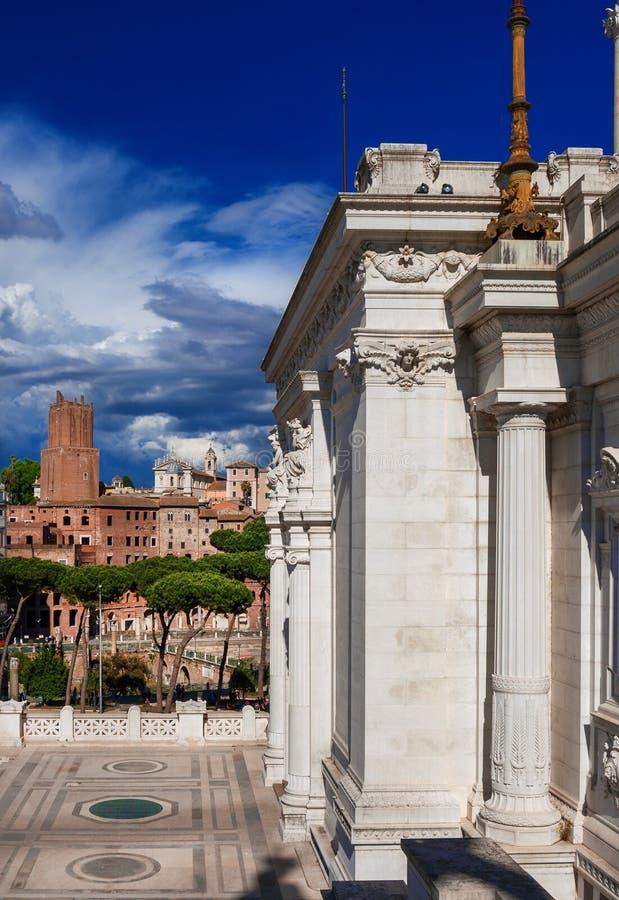 Forum du ` s de Trajan à Rome photo libre de droits