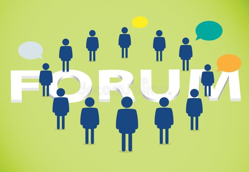 Forum dyskutuje ludzi ilustracja wektor