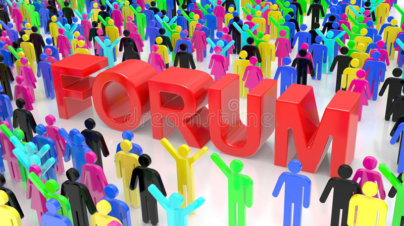 Download Forum Group Discussion stock illustration. Image of market - 22272594