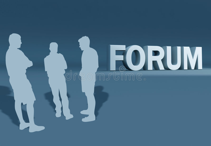Forum-Gruppen-Diskussion stock abbildung