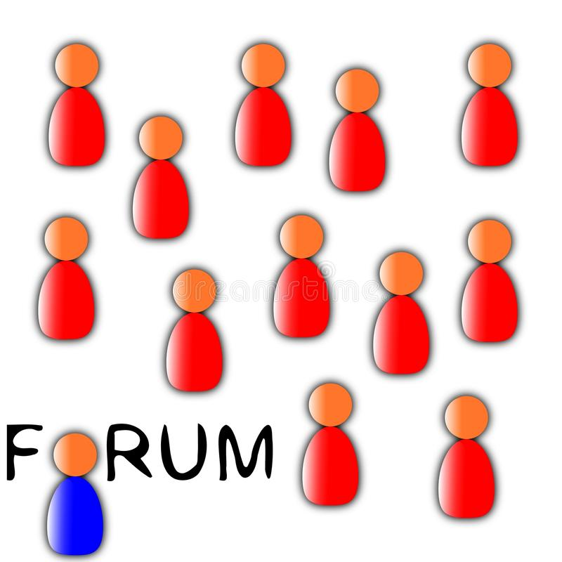 Forum people royalty free stock photos