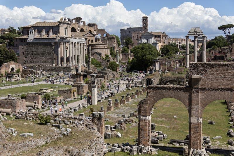 Forum romain Rome - Italie image stock