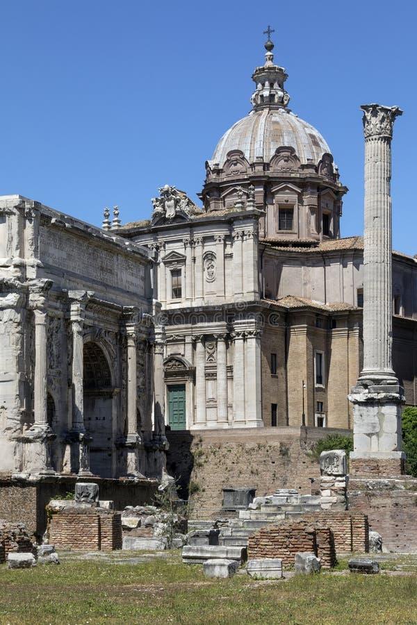 Forum romain - Rome - Italie images libres de droits