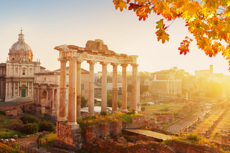 Forum - Roman ruins in Rome, Italy royalty free stock image