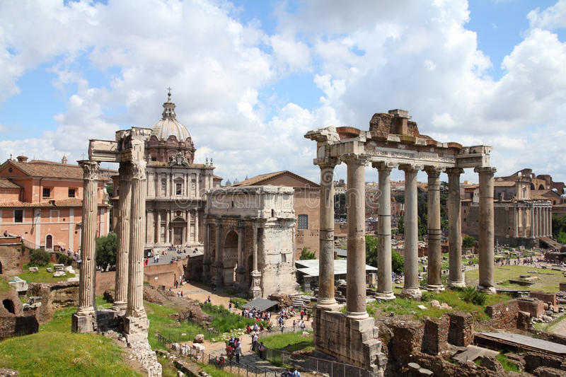Forum Romanum lizenzfreie stockfotografie