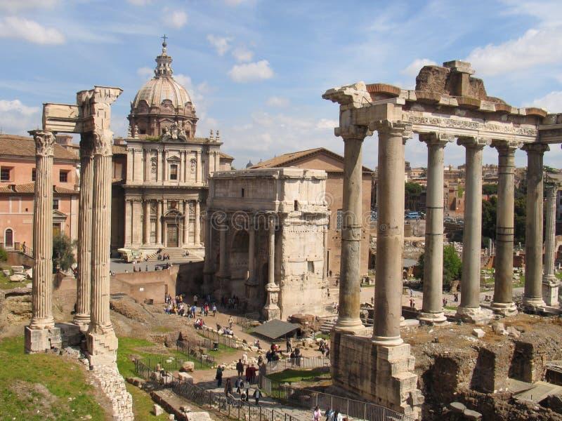 The Forum Romanum stock images